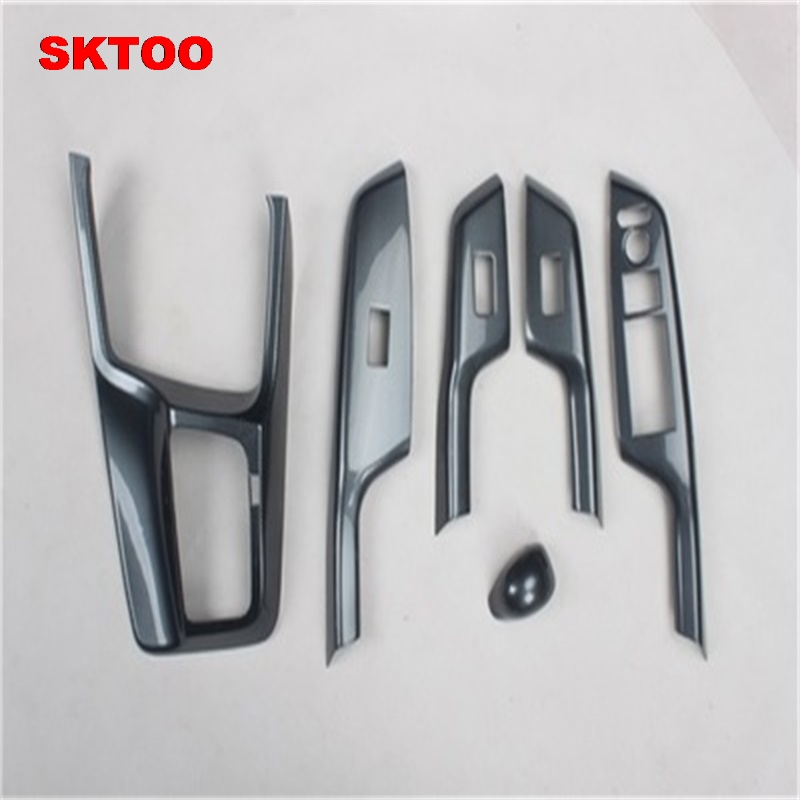 SKTOO For Honda Civic 9th carbon fiber interior trim adapted For Civic 8th electric Windows protection
