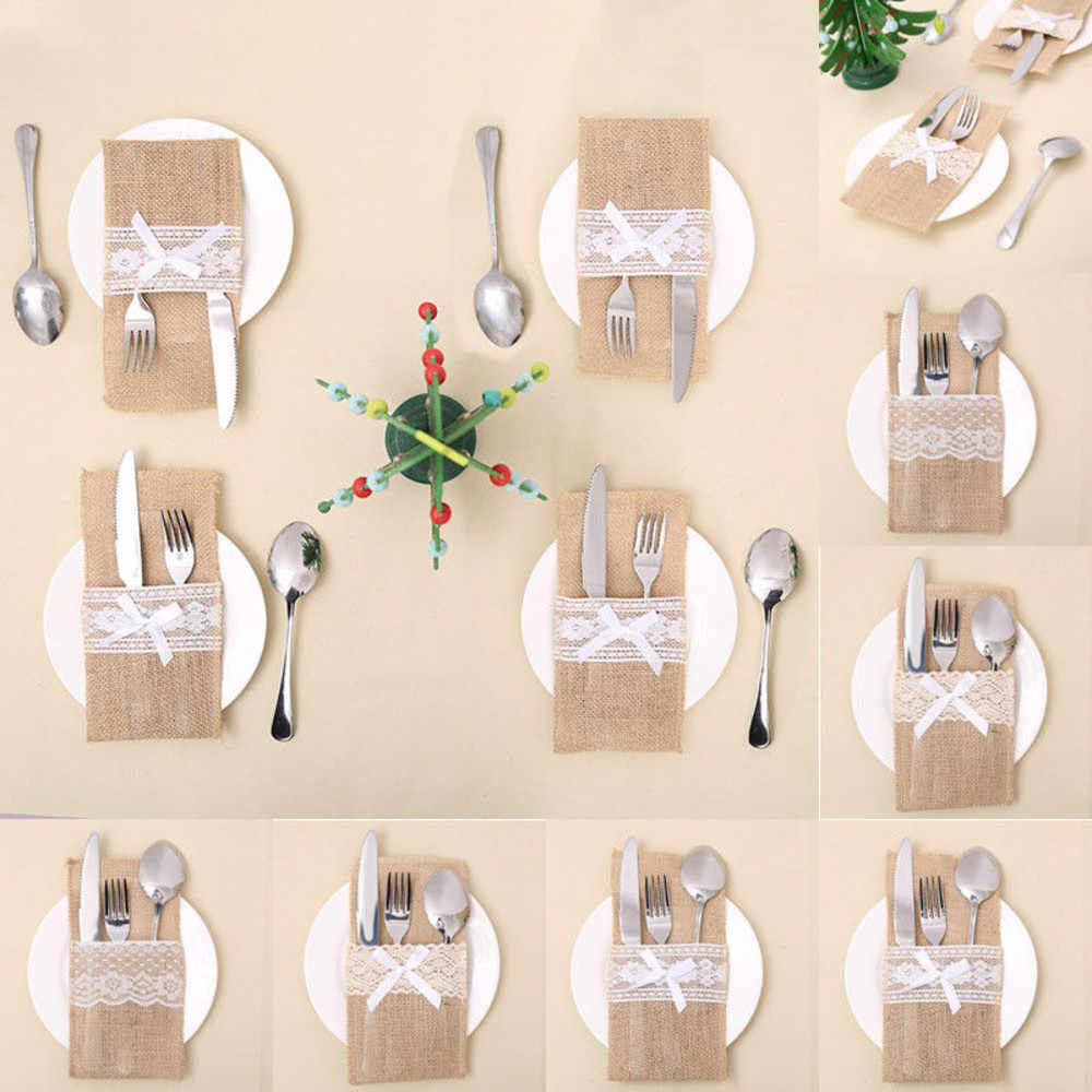 Christmas Kitchen Knife And Fork Set / Table Place Decoration Bags Kitchen Accessorie Home Storage Bags