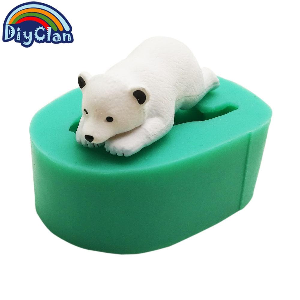Nuevo animal marino león marino fondant cake moldes pingüino chocolate arcilla molde para hornear oso polar pastel herramientas de decoración
