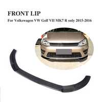Carbon Fiber Front Lip for VW Golf VII MK7 R Bumper 2015 2016 Front Lip Spoiler Chin Car styling