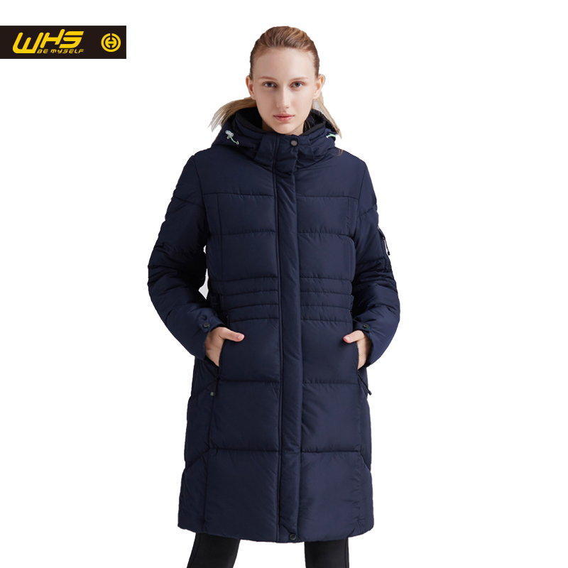 WHS Women thick thermal jacket Winter outdoor long cotton coats female warm parkas hiking clothes windproof jackets ladies coat цена