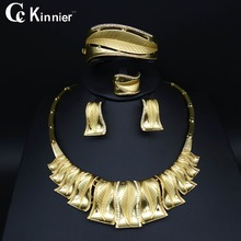 Fashion Attractive Bridal wedding jewelry set Dubai gold-color Exaggerate necklace bracelet earrings african beads jewelry sets fashion women bridal dubai gold plated wedding jewelry sets african beads accessories exaggerate necklace bangle earrings ring