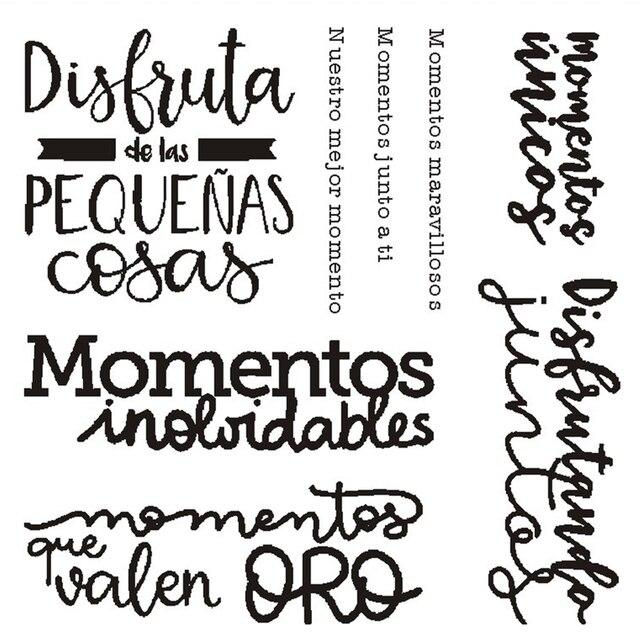 ספרדית 23 חותמת ברור חותמת לרעיונות שקוף סיליקון גומי DIY אלבום תמונות דקור B08
