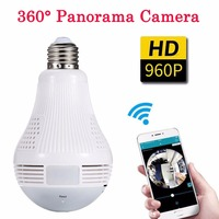 Wifi 360 Light Bulb Mini Camera Security Secret Micro Camera Espia Oculta Baby Monitor Panoramic Smart Surveillance CCTV Webcam
