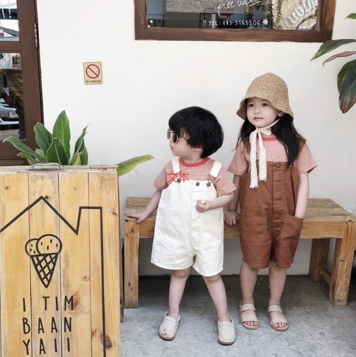 2019 Neue Mode Mädchen Jungen Overalls Sommer Jungen Mädchen Shorts 1-7 T Pt102 Overalls