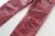 Plus size 28-38 Fold casual costura calças de brim dos homens Revestimento vermelho moda calças compridas Calças cantores DJ stage traje dos homens desgaste