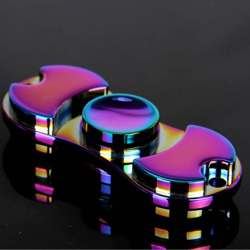 Metal Colorful Finger Spinner Fidgets Toy Brass EDC Sensory Hand Spinner For Autism and ADHD Rotate Anti Stress Toys #E fidget hand spinner brass metal edc finger spinner anti stress hand spinner for autism adhd toys gift spinning top