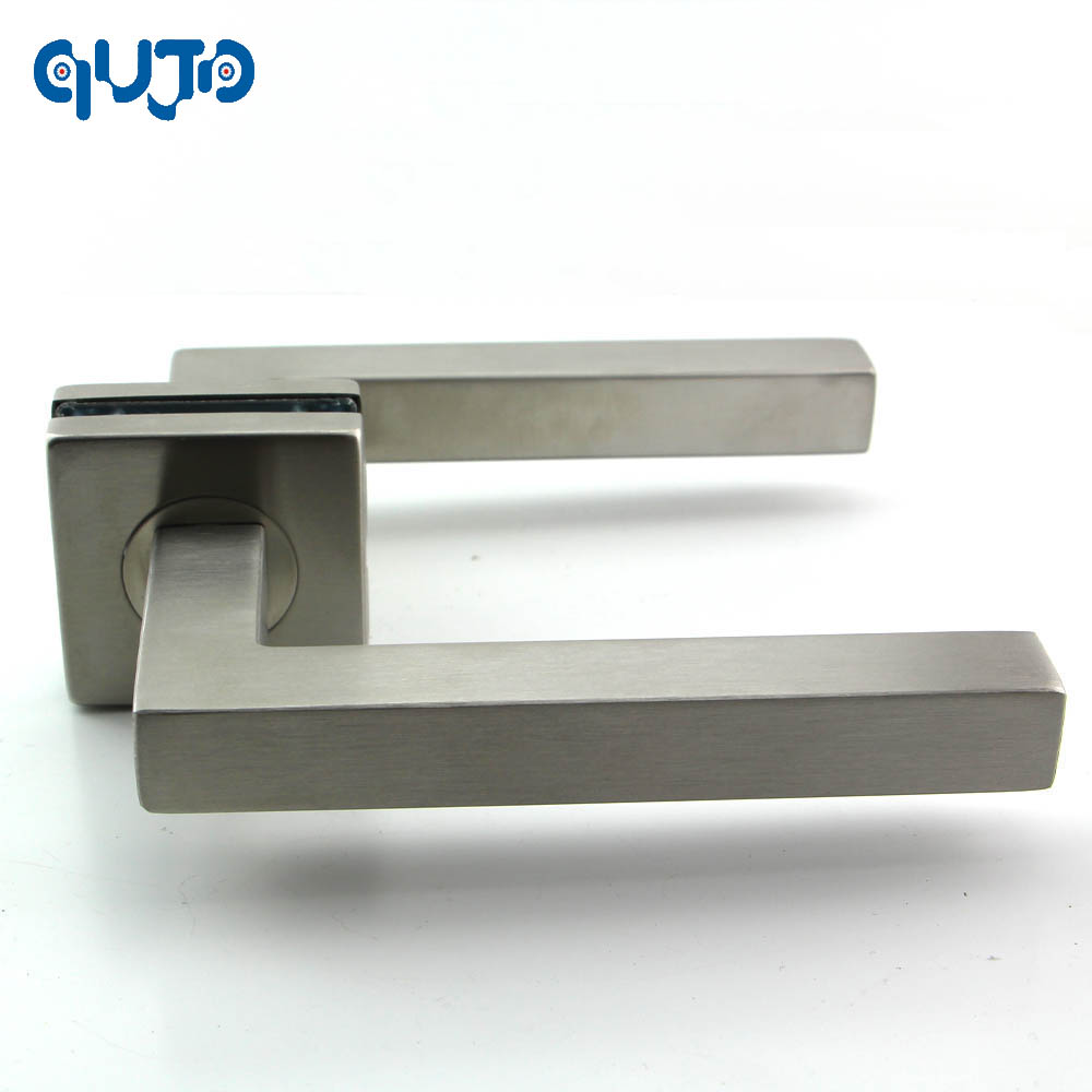 Modern Stainless Steel Square Tube Interior Door Handle And 140mm Handles For Gate Door Brushed Finished bronze glass door handle modern european luxury stainless steel door handle chinese antique wooden door handles