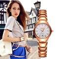 Marca de Lujo Cristalino del Oro BOSCK Relojes Señoras de Las Mujeres Pulsera de Cuarzo Relojes de pulsera de Diseño de Moda Top de Negocios Relogio Feminino