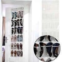 24 Pocket Folding Hanging Shoes Storage Organizer Hanging Sundry Shoe Storage Bag for Closet Home Wardrobe Hanging Bag
