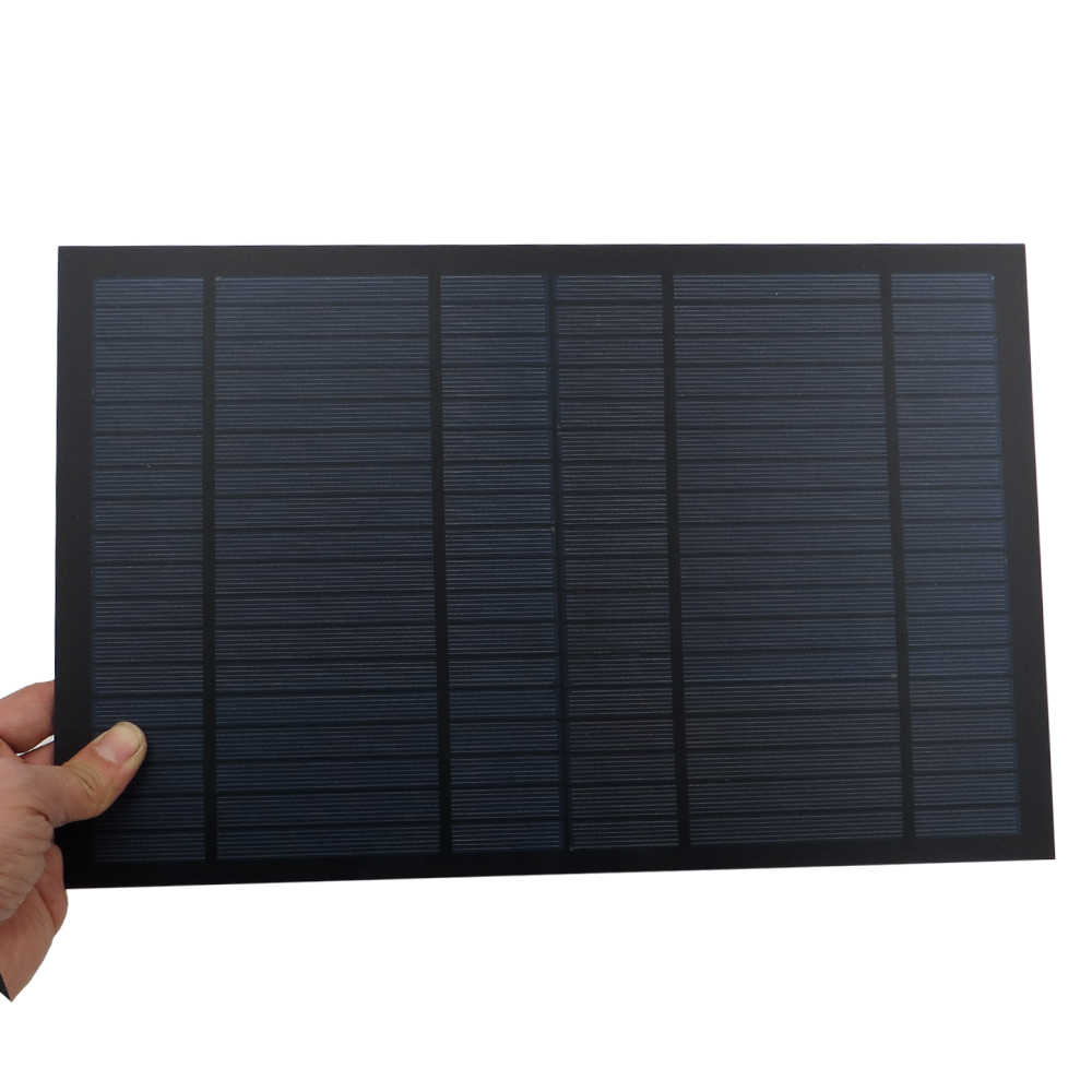 18V 556mA 10Watt 10W Solar Panel Standard PET polycrystalline Silicon charge for 12V Battery Charge Module Mini Solar Cell