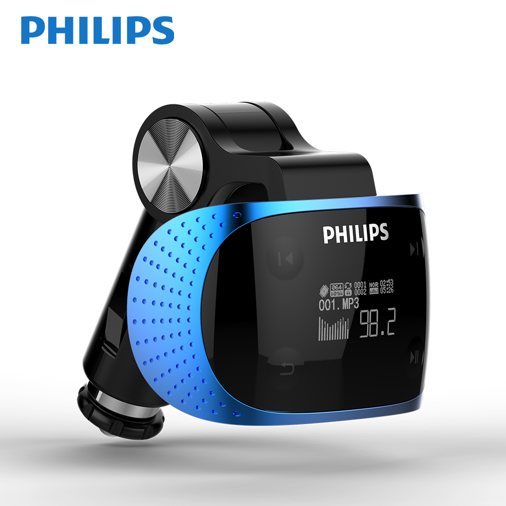 PHILIPS Original Product Car MP3 FM Transmitter G7 + AUX Modulator Car Kit MP3 Player SD USB LCD Car Accessories SA1608