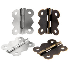 2Pcs 40x34mm Antique Bronze Door Cabinet Hinges Butterfly Iron Hinges Furniture Accessories Wood Box Hinges Furniture Fittings цены