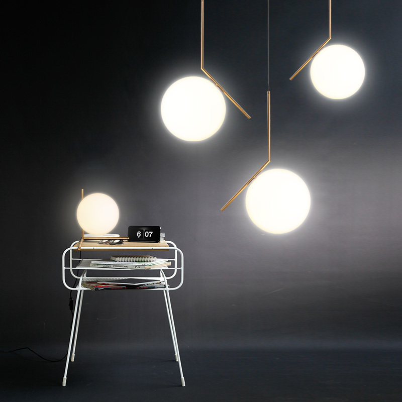 Hot Sale Simple post modern style Pendant Light glass ball lamp pendant light deco lampe modern lights nordic lighting l artigiano del cuoio вьетнамки