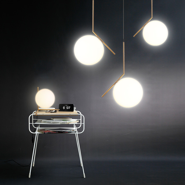 Hot Simple Post Modern Style Pendant Light Gl Ball Lamp Deco Lampe