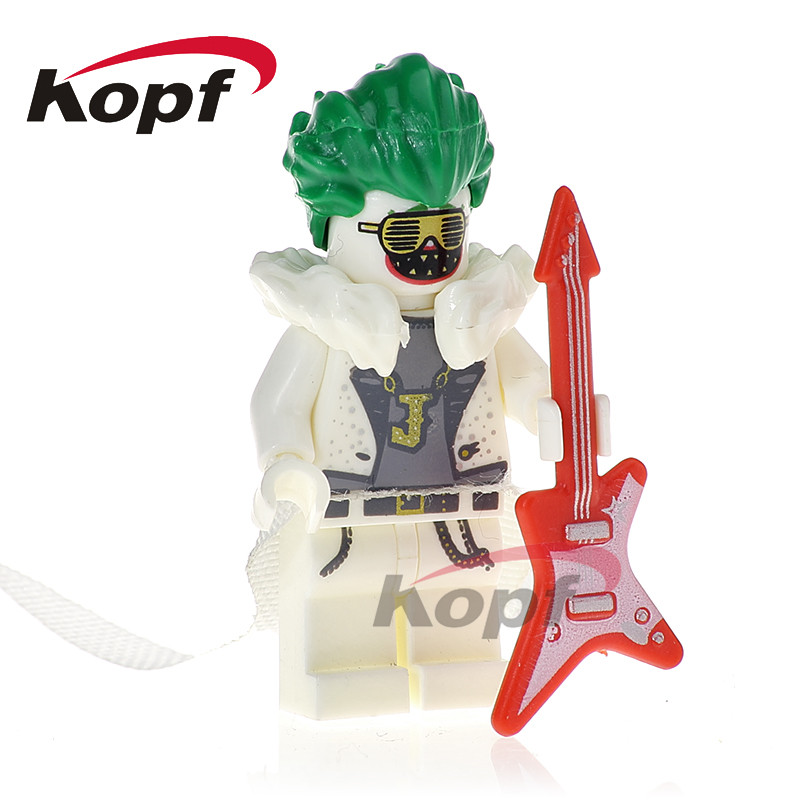 Building Blocks Single Sale Disco Clown Master Batman Killer Moth Apache Chief Super Heroes Bricks Children Gift Toys PG420