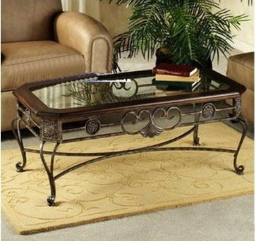American special glass wrought iron wrought iron coffee table