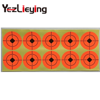 High Visibility Target Sticker Self Adhesive Peel Orange 4 5 Or 7 5 Cm Diameter 1