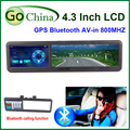 "4.3"" car GPS with Rearview Mirror, MTK navigator 800MHz, bluetooth, AV in, FM,4G,offer free maps ."