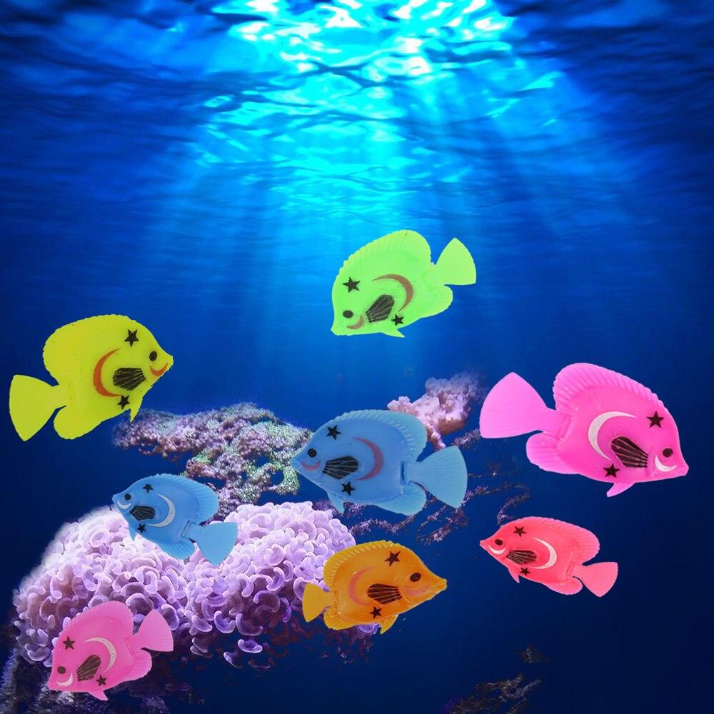Artificial aquarium fish tank - 10pcs Aquarium Fish Tank Artificial Plastic Fake Floating Fish Pet Decor Ornaments China Mainland