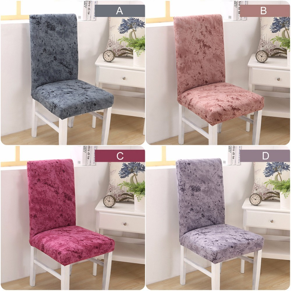 1 Piece Fit Soft Stretch Cotton Chair Covers For Wedding Hotel Office Kitchen Short Dining Cover In From Home Garden On