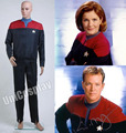 Star trek voyager comando uniforme traje conjunto completo rojo