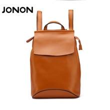 JONON backpack women genuine leather backpacks school bags for teenagers  girls backpack women shoulder  bags brand designer