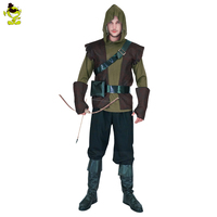 2017 New High Quality Of The Halloween Costume Party Man Robin Hood Cosplay Costume Green Arrow