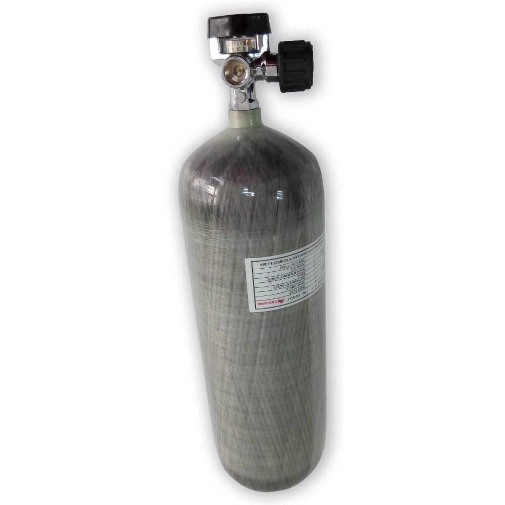 AC30921 Good Price 9L CE Scuba Diving Carbon Fiber Cylinder PCP Airsoft Tank 4500psi 300bar With Valve Drop Shipping