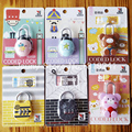1PCS Cute cartoon MINI Small Size Classical Metal Ring Puzzles IQ Brain Teaser Test Toys Locks Educational Gifts for Kids Adults