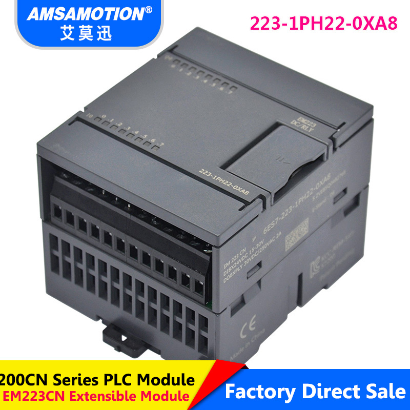 Suitable Siemens S7-200 Digital Module 8I/8O Relay Type EM223 6ES7 223-1PH22-0XA8 Extension Module 16I/16O 6ES7 223-1PL22-0XA8 цена