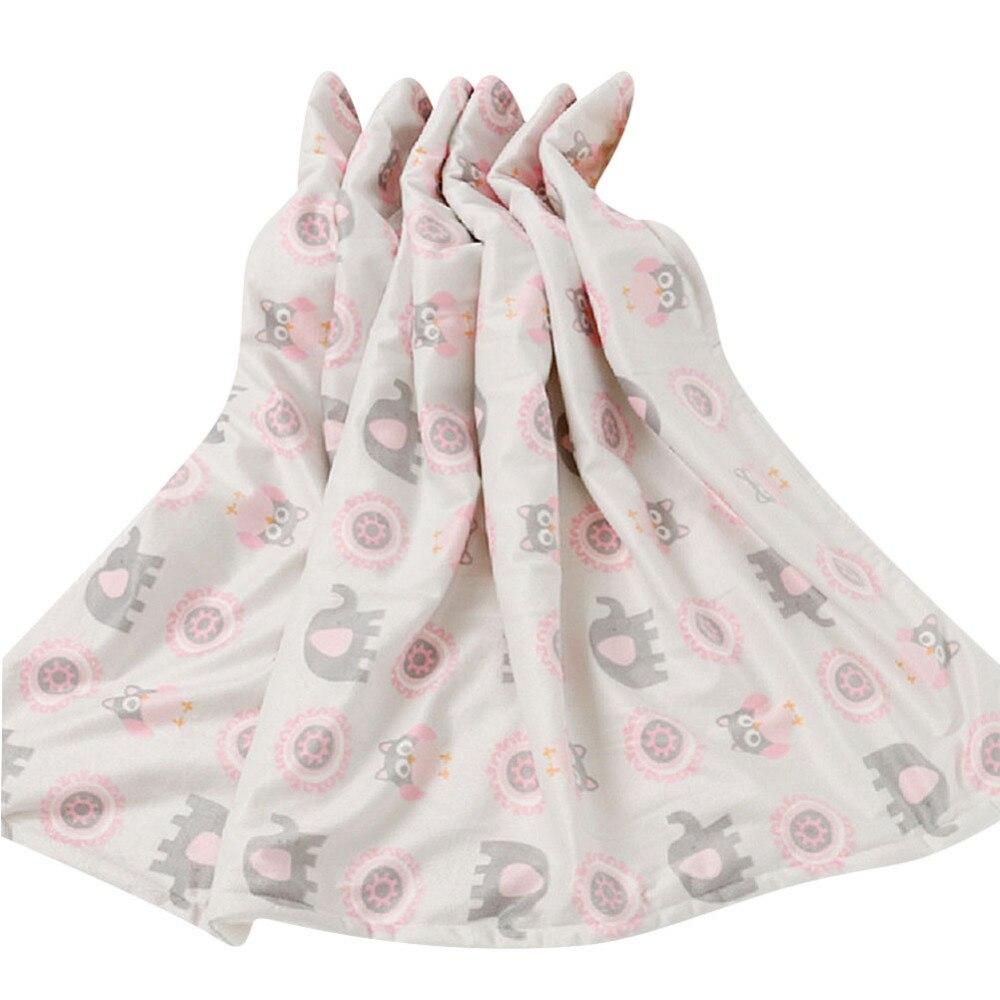 Double-layer Coral Velvet Soft Blanket Multi-functional Huggable Blanket for Children Babies Newborns