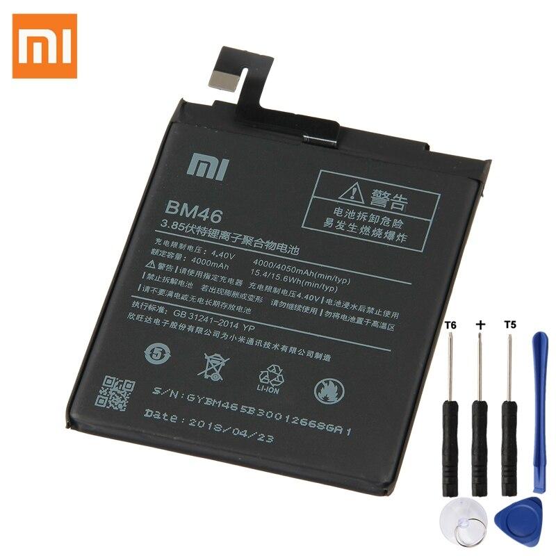 Origine Xiao mi Remplacement Batterie BM46 Pour Xiao mi Rouge mi Note 3 Hong mi Note3 100% Nouveau Authentique Téléphone batterie 4050 mah