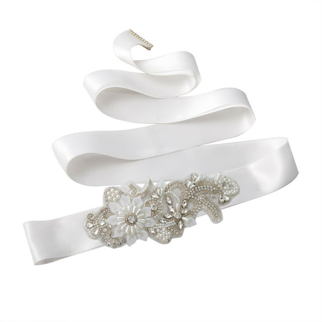TOPQUEEN S281 Women's Rhinestones Crystals Bridal Bride Waist Wedding Belts Sashes Accessories For Evening Party Gown Dresses