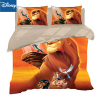 Us queen size 3D print comforter bedding set quilt cover for teenagers double bed spread 3pcs children's birthday gift lion king