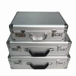 Hohe qualität Aluminium legierung toolbox sicherheit ausrüstung instrument fall datei lagerung box Koffer portable passwort schloss fall