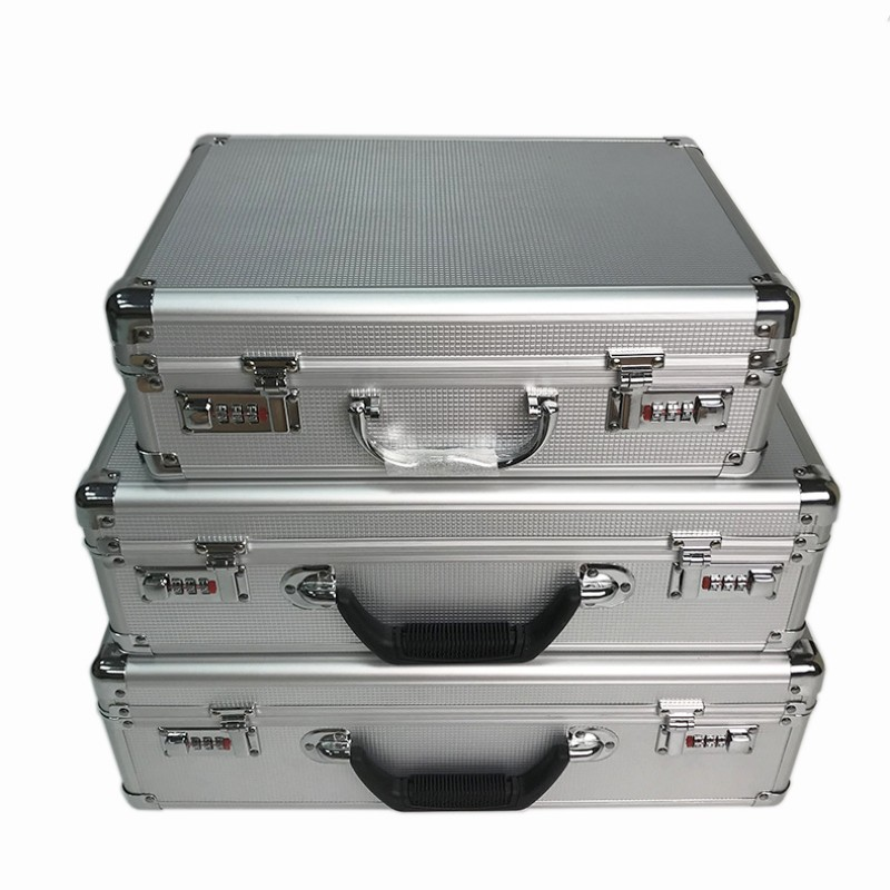 High Quality Aluminum Alloy Toolbox Safety Equipment Instrument Case File Storage Box Suitcase Portable Password Lock Case