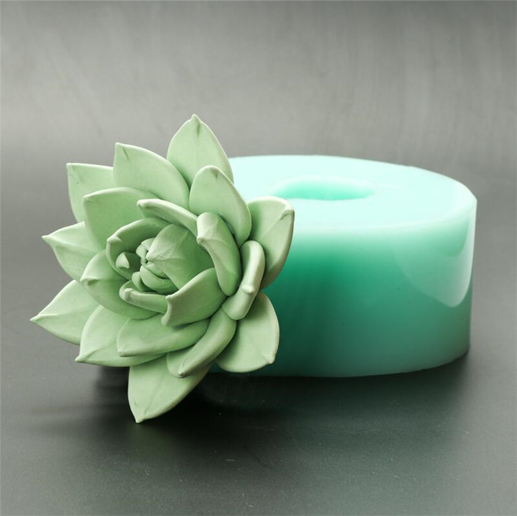 Silica gel 3D molds Succulent plants silicone soap mold handmade candle aroma mould Handicraft resin clay molds HC0036