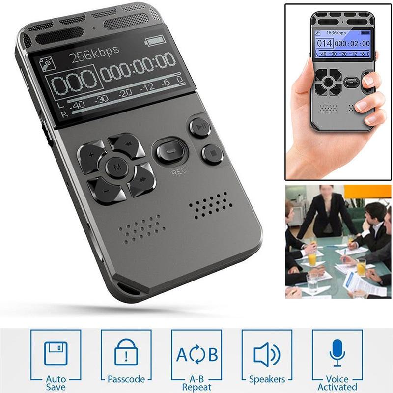 Lecteur MP3 Portable Dictaphone enregistreur vocal Audio numérique LCD Rechargeable LCC77