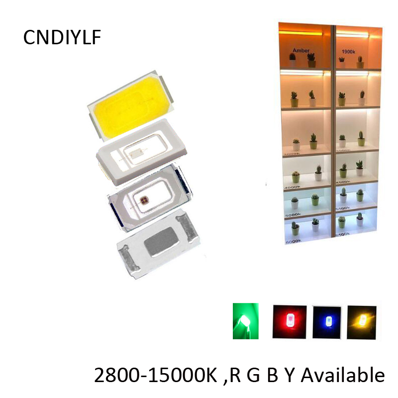 Full White LED Chip SMD  5730 2.0-3.6V 150ma  R G B Y3000K 4000K 5000K 5500K 6000K Fast Delivery Via Air Mail