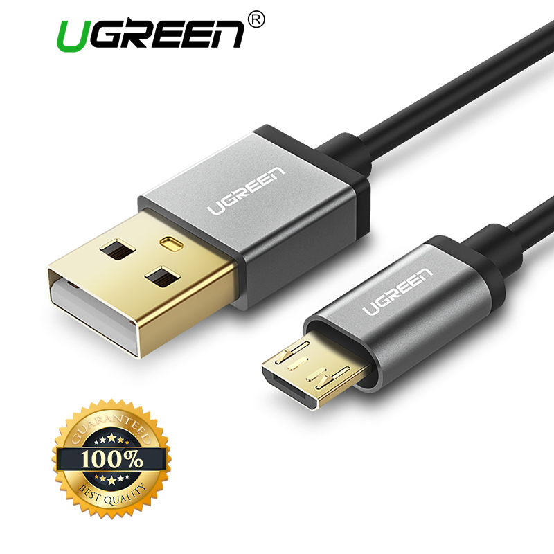 Ugreen Micro USB Cable 2A Fast Charging Data Cable for Xiaomi Redmi Note 5 Huawei HTC Mobile Phone Charger Cable Micro USB Cord mu 2mw usb to micro usb data charging cable for samsung lg htc white 2m