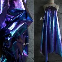 Aurora original laser illusion gradient wrinkle texture tearing paper fabric designer cloth fabrics for patchwork