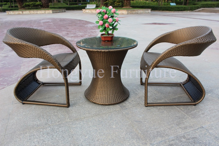 Outdoor brown rattan wicker table chairs furniture designs