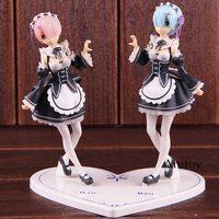Anime Re Zero Kara Hajimeru Isekai Seikatsu Figure Action Rem and Ram Action Figures PVC Collectible Model Toy