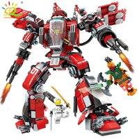 737pcs Ninjaed Fire Mech Building Blocks Compatible Legoing Ninjagoes Kai Zan Figures Robot Educational Bricks Toys for children