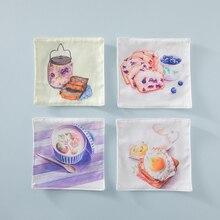 Brot Dessert Tuch Schalenküstenmotorschiff Wärmeisoliert Pad Tischset  Dessert Geschirr Coaster Kissen Tischset Topflappen Küche(China