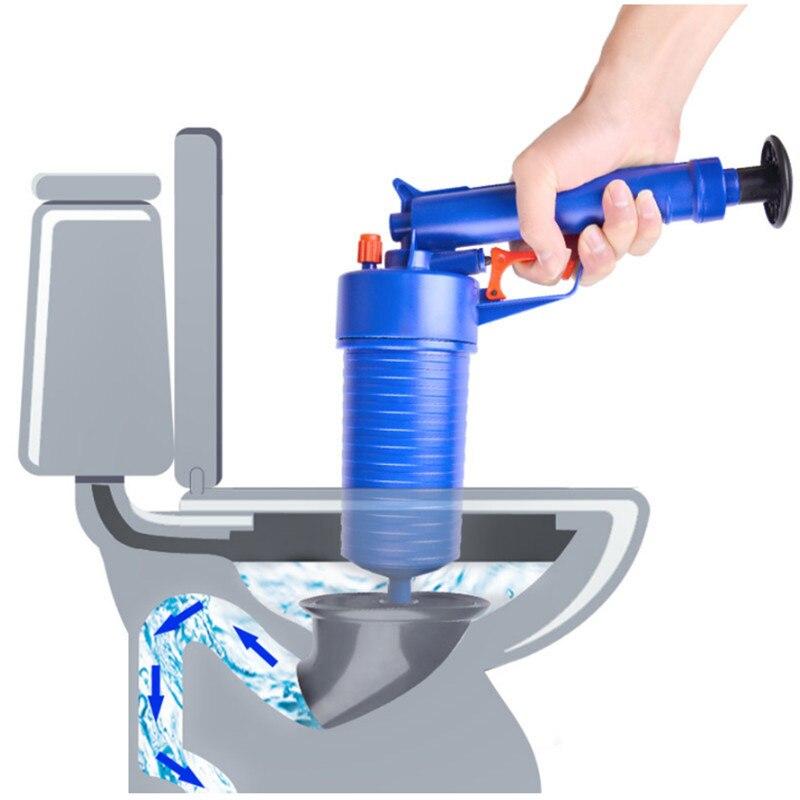 Haute Pression Air Drain Blaster Cleaner ABS En Plastique Pipeline Drague Toilettes des Tuyaux Bouchés et Drains Avec 4 Adaptateurs Nouvelle Arrivée