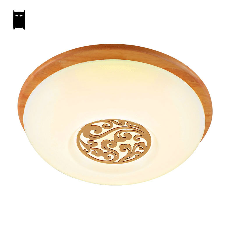Led Remote Control Dimmable Wooden Acrylic Ceiling Light Fixture Modern  Nordic Plafon Lustre Bedroom Corridor Hallway