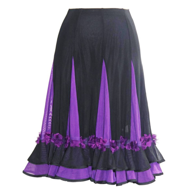 Women Color Matching Patchwork Dance Practice Dress Latin Dance Big Swing Skirt Ballroom Dress Mesh Perspective Dance Dress!!