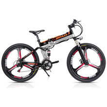 21 Speed, 26 inches, 48V/15A, 350W, Folding Electric Bicycle, Mountain Bike, Lithium Battery, Aluminum Alloy Frame, Disc Brake.